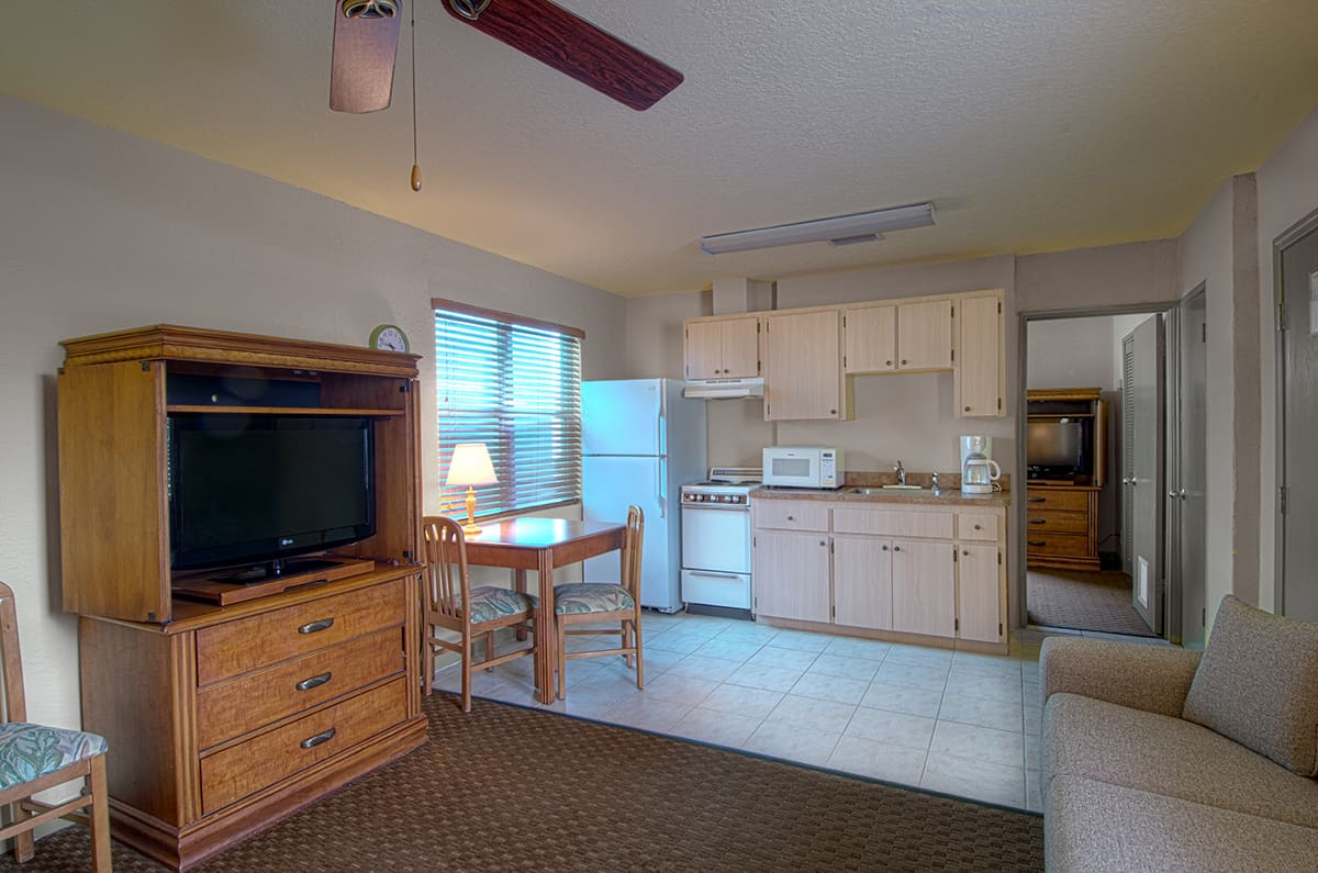The Inn's One-Bedroom Apartment Features Two-Room Including a Bedroom with Queen Size Bed