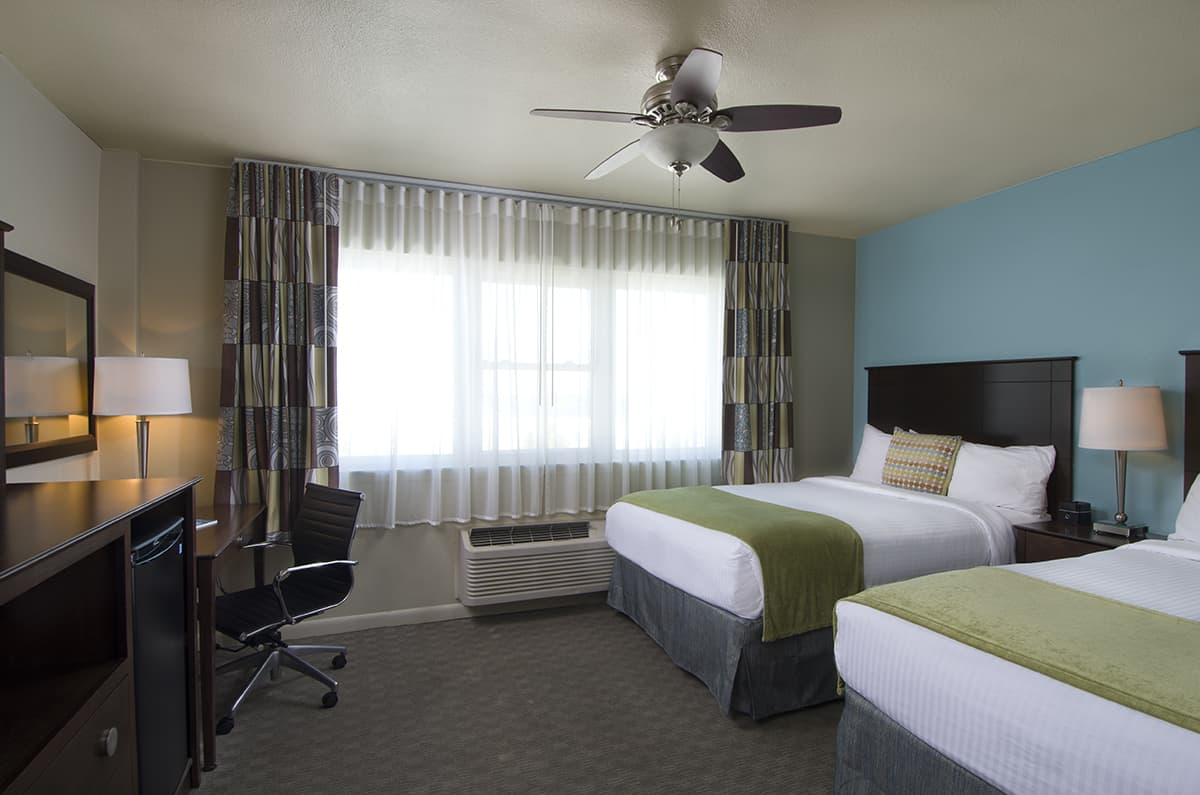 The Inn's Gulf View Hotel Room Features 2 Double Beds